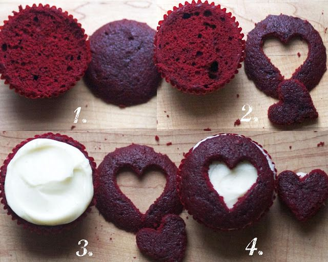 ... red jam or sprinkles :))) (Sweetheart Cupcakes via The Baker Chick