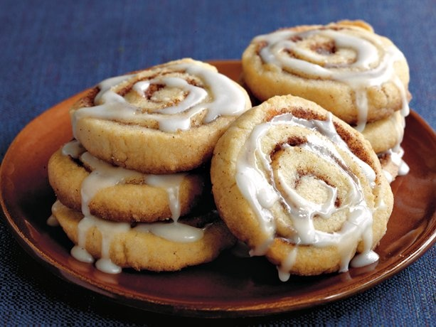 cinnamon roll cookies... I'd probably use a sugar cookie recipe from ...