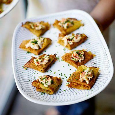 Wild-Rice Pancakes with Smoked-Trout Salad | Recipe
