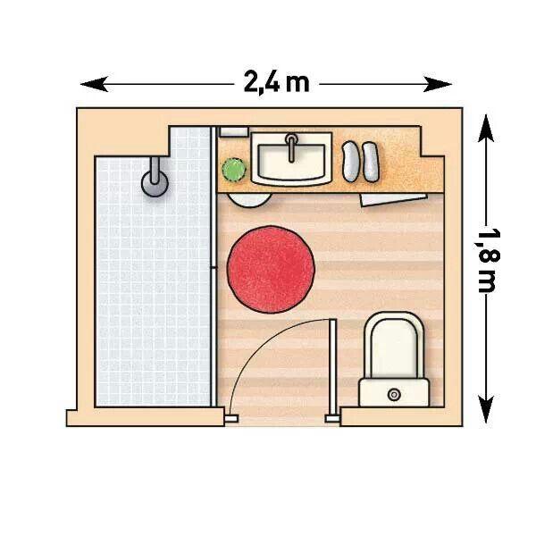 Medidas Baño Pequeno:Planos Para Banos Pequenos