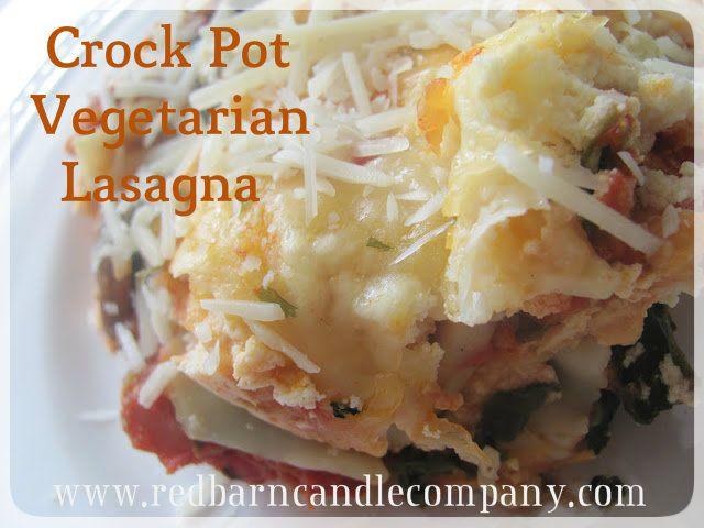 Crock Pot Vegetarian Lasagna. EDIT: I made this without the mushrooms ...