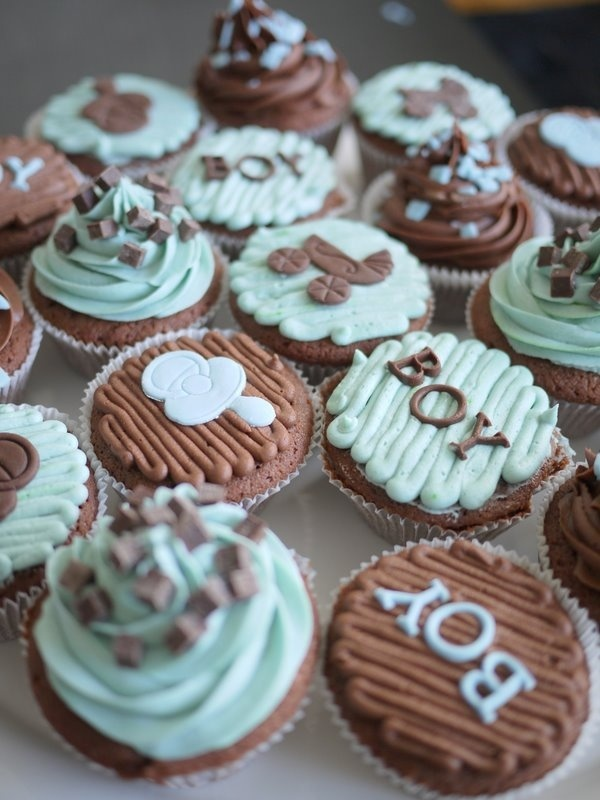 Baby Shower Cupcake Ideas On Pinterest : Baby Boy Shower cupcakes Baby Boy Shower Ideas Pinterest