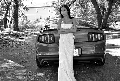 Wedding gown more importantly mustang