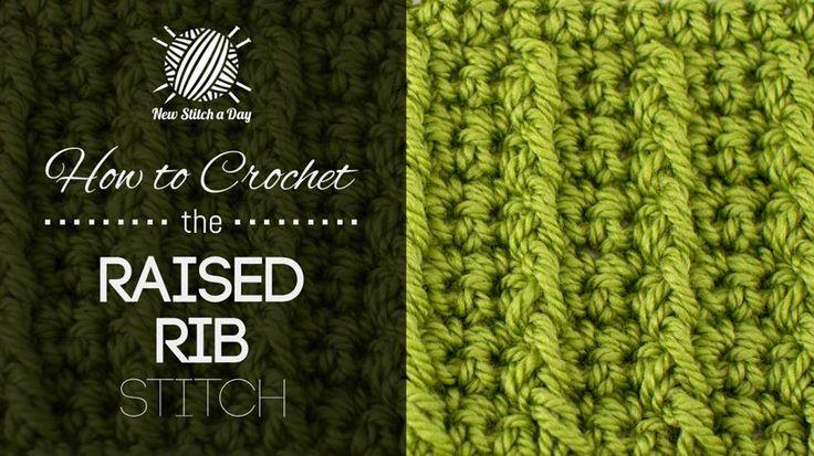 Crochet Stitches Ribbed : How to Crochet the Raised Rib Stitch Crochet Stitches Pinterest