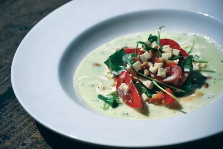 Heirloom Tomato Salad with Yogurt Buttermilk Vinaigrette and Chilled ...