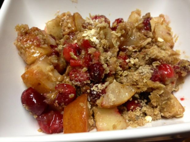 Super healthy pear-cranberry crisp | Breakfeast.. | Pinterest