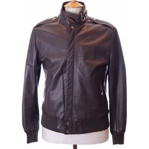 Vintage 1970s Grey leather bomber jacket Product Code: 12690 Price: