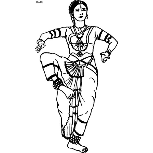 Bharatanatyam Dance Techniques  Classical Indian Dance-Coloring Book    Bharatanatyam Cliparts