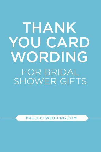 Thank You Wedding Shower Gift Wording : Bridal Showers