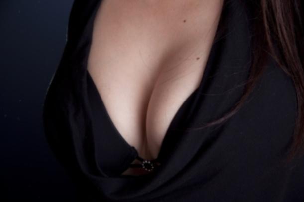 Blonde big tits bikini