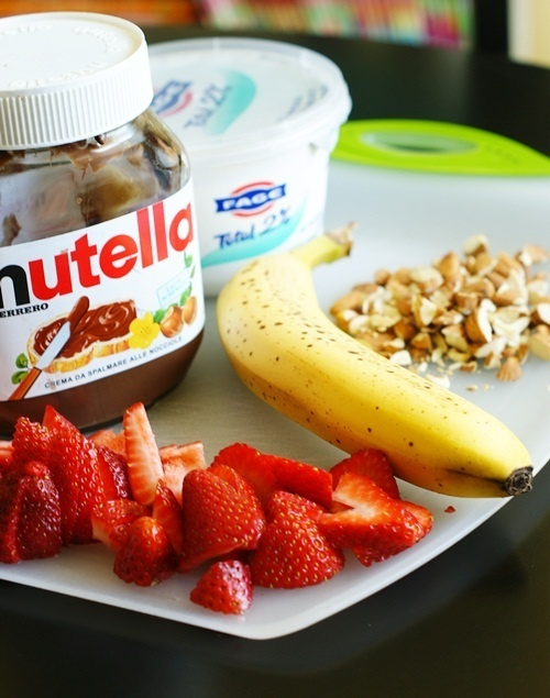 Breakfast Banana Split - sounds delicious and looks yummy!