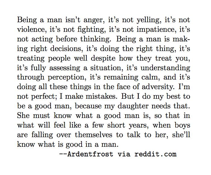 OH MY GOD I really really really needed to read this...even the strongest of men cry..and need a reminder that what they are doing is right and they are strong - fatherhood