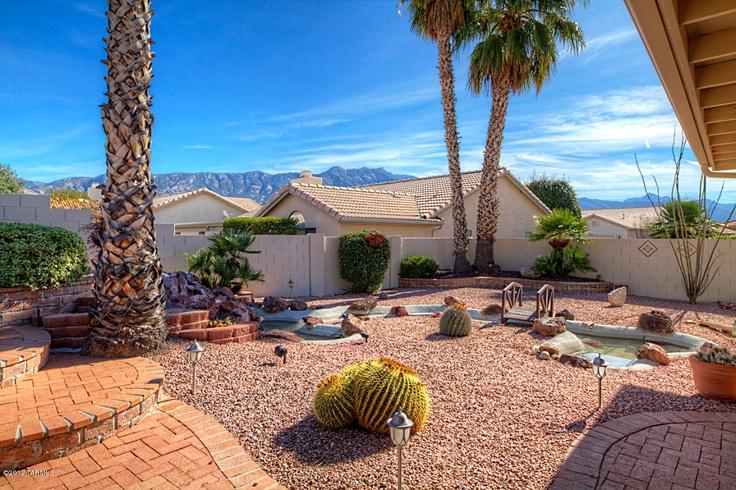 simple Arizona backyard  yard  Pinterest