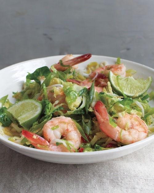 Spicy Shrimp and Brussels Sprout Stir-Fry - Martha Stewart Recipes
