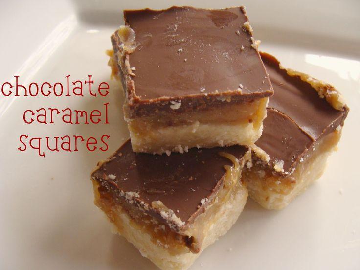Coffee Toffee Bonbon Squares With Caramel Recipe — Dishmaps