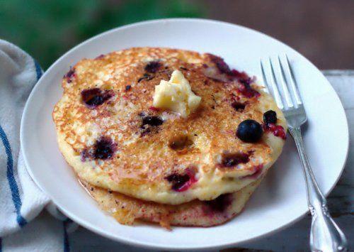 blueberry cornmeal pancakes | Dude... food. | Pinterest