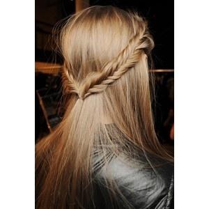Fishtail braid headband hair ideas pinterest