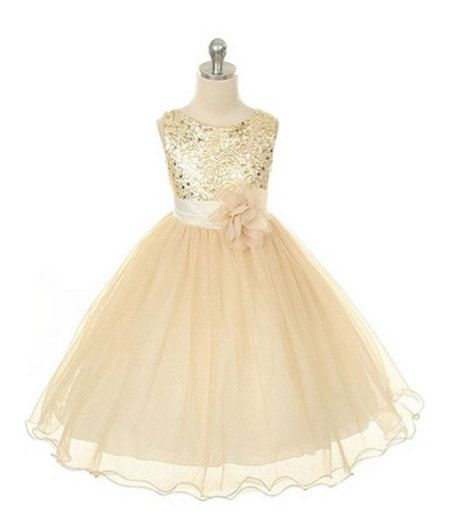gold flower girl dresses special occasion dress