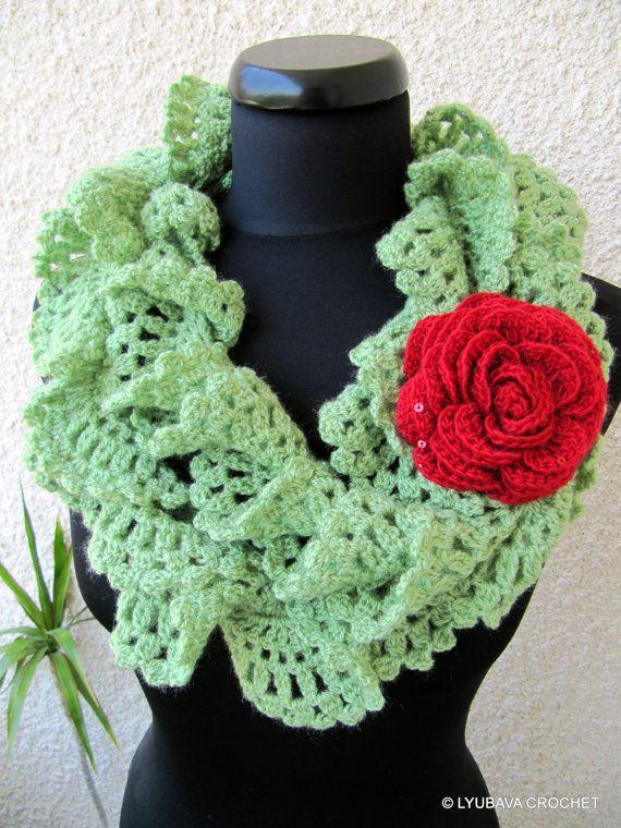 Crochet Pattern Lace Ruffle Scarf : Tutorial Crochet Patterns, Crochet Ruffle Lace Scarf ...