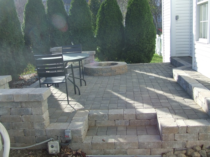 paver patio with pit patios