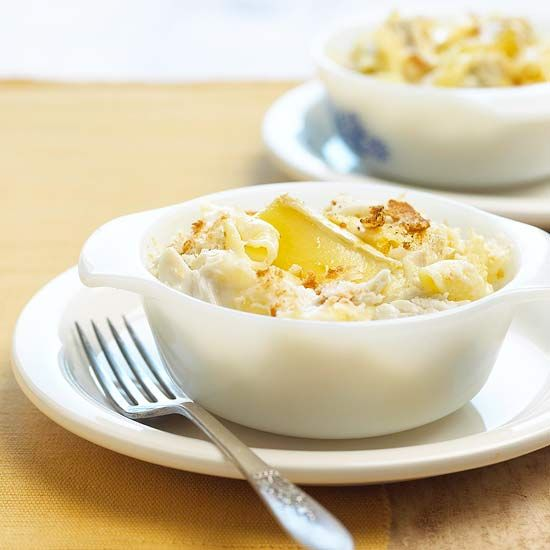 Chunks of crabmeat and Brie cheese give this macaroni and cheese a ...