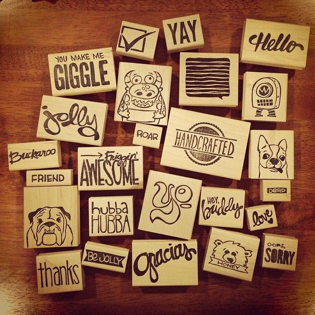 Assortment of stamps carved by Melody Hyde