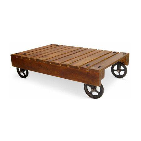 Funky Pallet Coffee Table Wheels Renovation Ideas