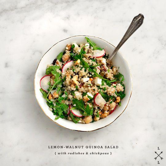 Lemon-walnut quinoa & chickpea salad