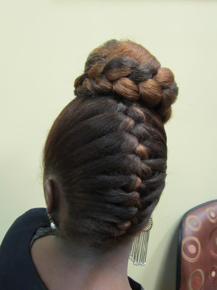 French Braid Updo Black Hair