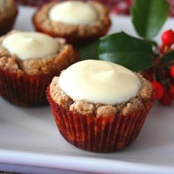 Cheesecake Bites - gingerbread cookie cups filled with creamy ...