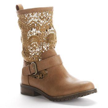 Mudd Crochet Boots - Women