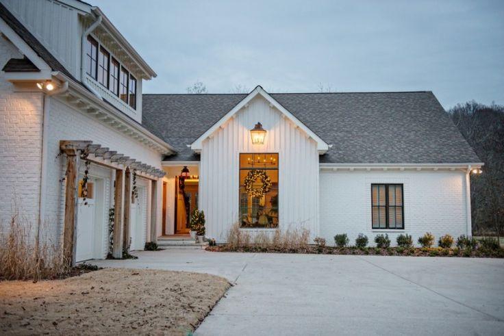 Painted white brick new vz house inspiration pinterest for Farmhouse brick