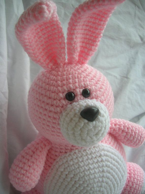 Pinky The Rabbit Amigurumi Crochet Pattern : Bella the Bunny - Amigurumi Plush Crochet PATTERN ONLY (PDF)