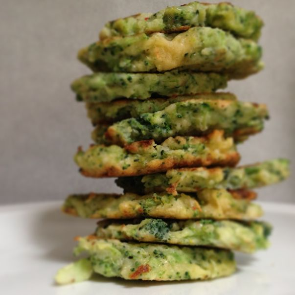 Yummy, easy, and kid friendly Broccoli and Parmesan Fritters!