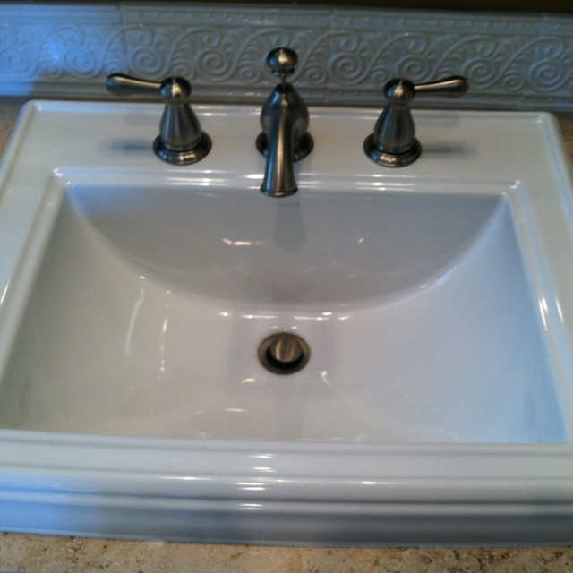 Memoirs Kohler Sink : kohler top mount Memoirs sink love it! functional design Pinterest