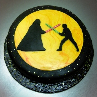 Star Wars birthday cake By cakefella on CakeCentral.com