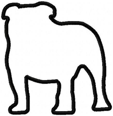 Bulldog Silhouette Vector Bulldog Outline Silhouette