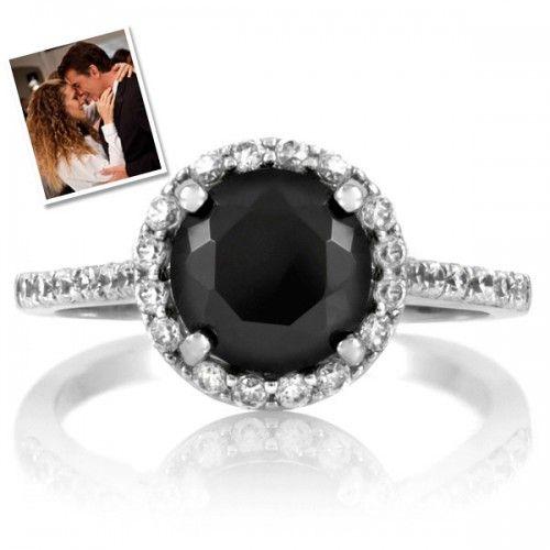 carrie bradshaw39s black diamond ring jewels pinterest With carrie bradshaw wedding ring