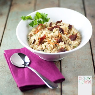 This earthy Mushroom Risotto is taken to new heights with lemon zest ...