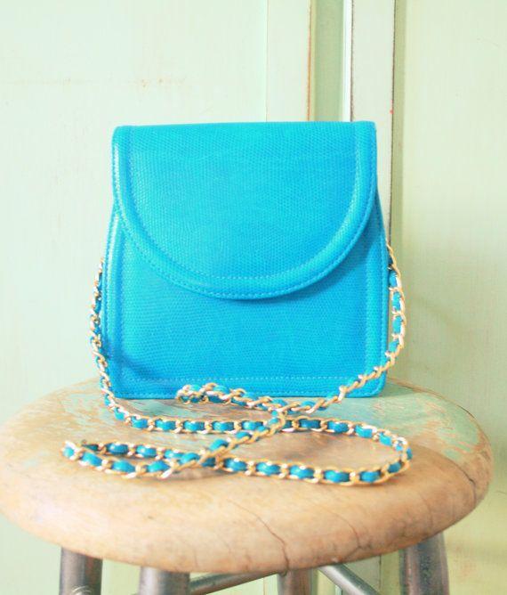 Vintage ROYAL BLUE and Gold Handbag....retro by retroandme on Etsy,  ...