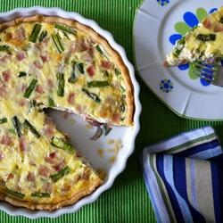 Ham and Asparagus Quiche - a Simple Savory Pie — Punchfork