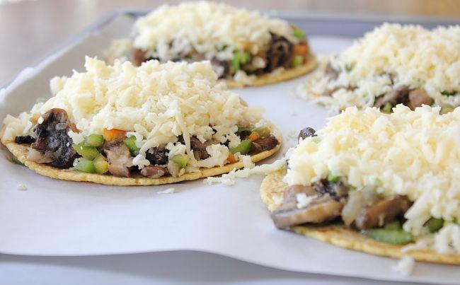 Cheesy Mushroom Quesadillas