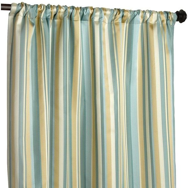 """Pier 1 Imports Pierre Stripe Curtain - 84"""" ($40) found on Polyvore"""