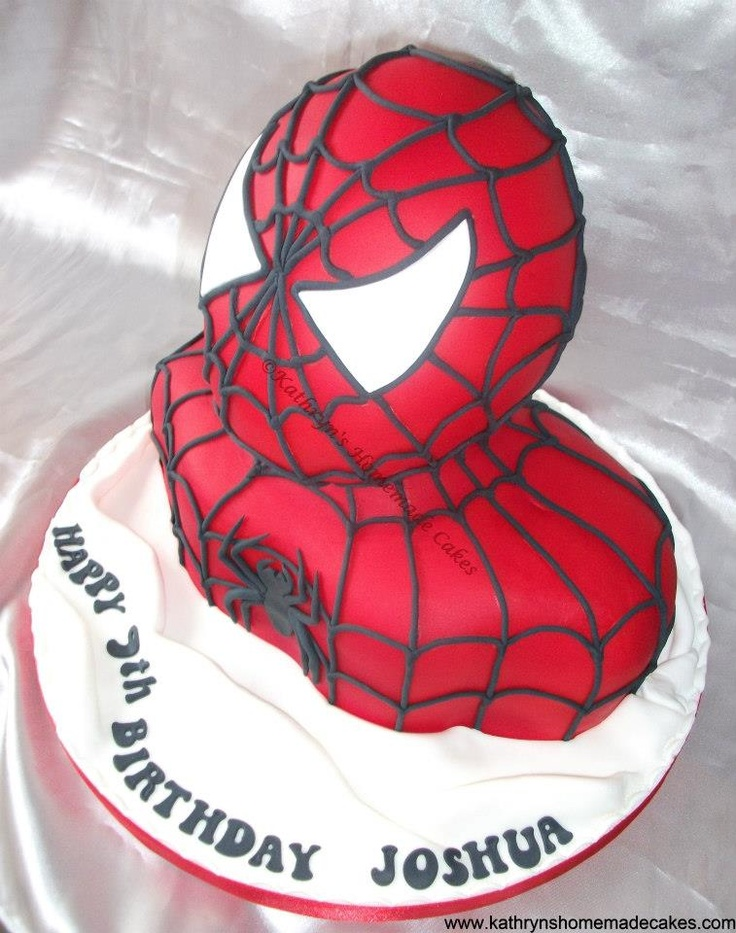 spiderman bust cake instructions