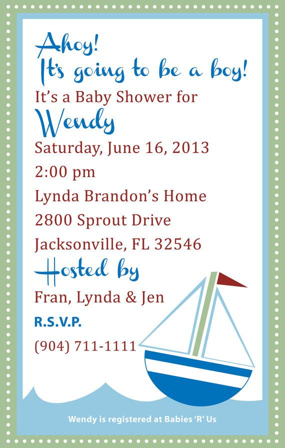 Ahoy  It39;s a Boy Baby Shower Invitation Digital Image