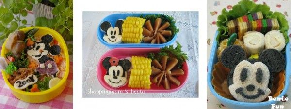 Mickey bento lunch | Food - Bentos, cute lunches | Pinterest