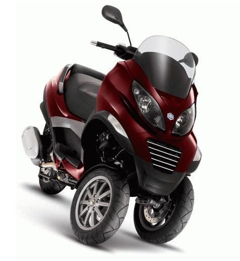 piaggio three wheel 500 cc scooter scooters pinterest. Black Bedroom Furniture Sets. Home Design Ideas
