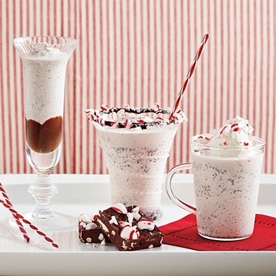 ... Black-Bottom: Pour chocolate fudge shell topping into frozen glasses