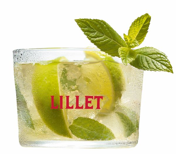 ... crushed ice, mint and the Lillet Blanc, Fill up with sparkling water