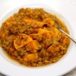Simple, healthy, one-pot sweet potato and lentil stew